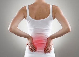back pain in the lumbar region